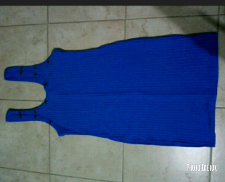 Vestido de morley azul sin uso talle 1