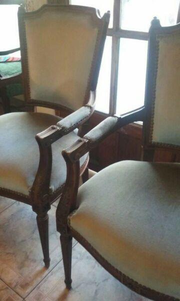 vendo 2 regios sillones de estilo