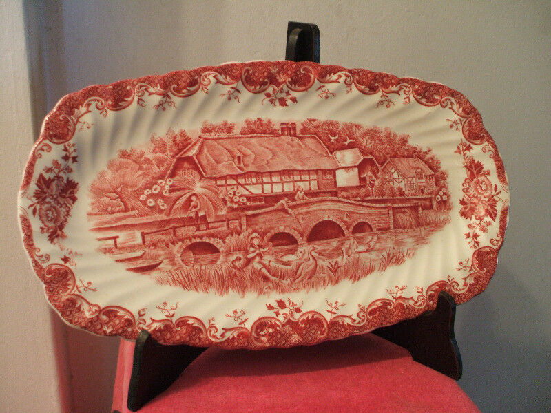 JOHNSON BROTHERS fuente oval de porcelana inglesa ENGLISH