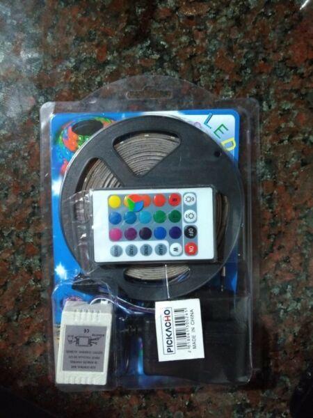 Tira Led Rgb  M Multicolor Combo Fuente Control