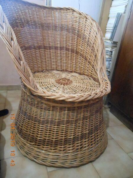Vendo sillon de mimbre excelente estado poco uso