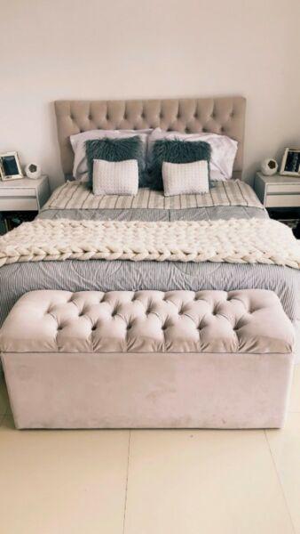 colchon y sommier king size doble pillow cm2 posot class. Black Bedroom Furniture Sets. Home Design Ideas