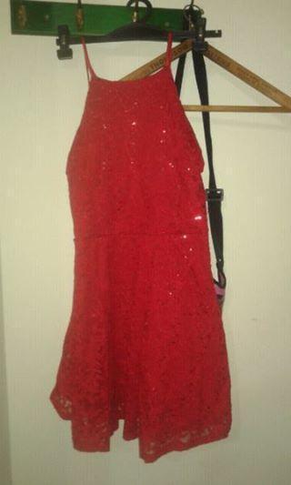 Vendo vestido rojo de fiesta