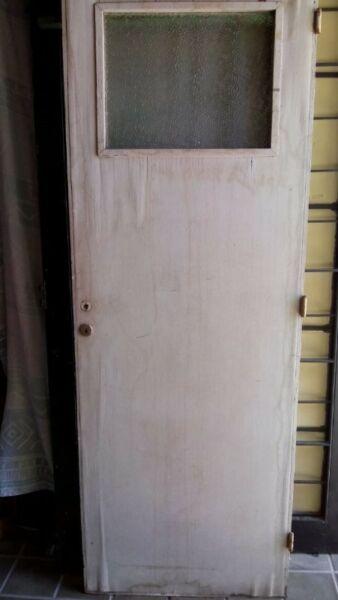 Puerta de madera para interior con vidrio!