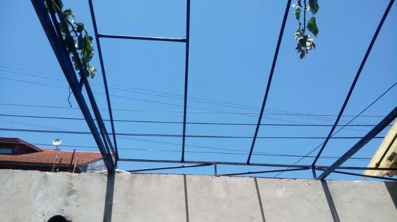 Estructura de hierro para garage