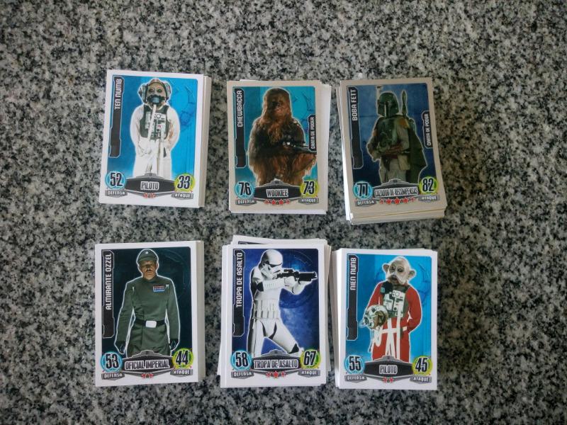 Vendo lote de 178 tarjetas diferentes de star wars