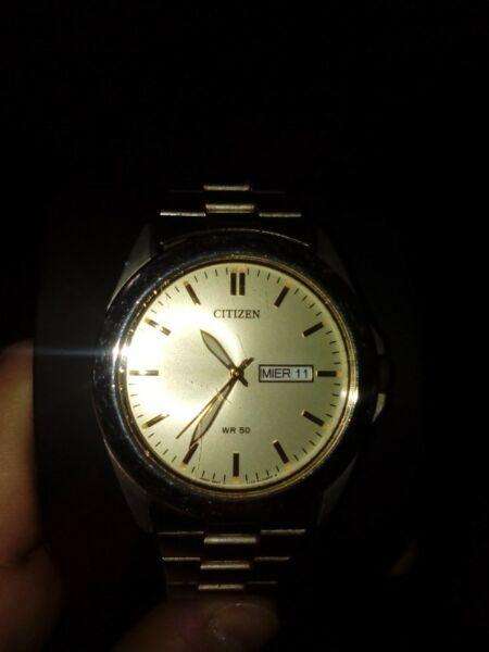 reloj de pulsera de hombre, marca citizen