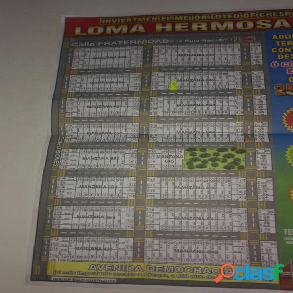 VENDO TERRENO LOMA HERMOSA III / CRESO/ ENTRE RIOS