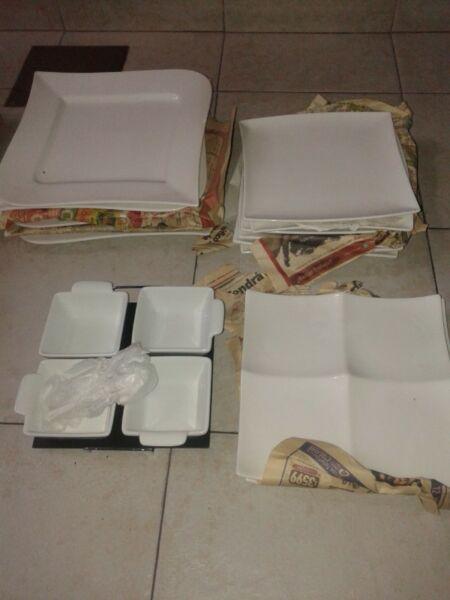 set de platos de porcelana mas copetineros
