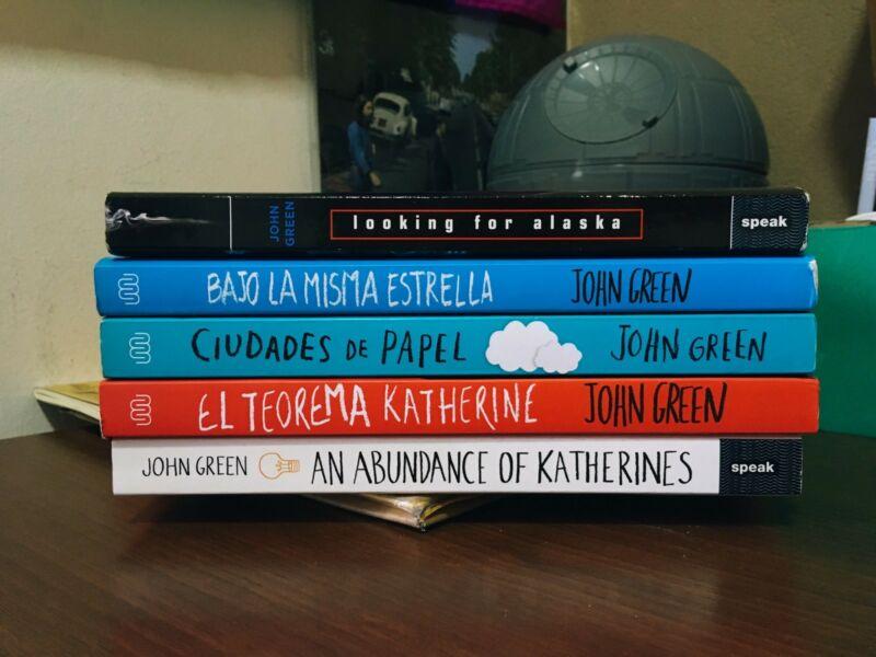 Lote de libros del autor John Green