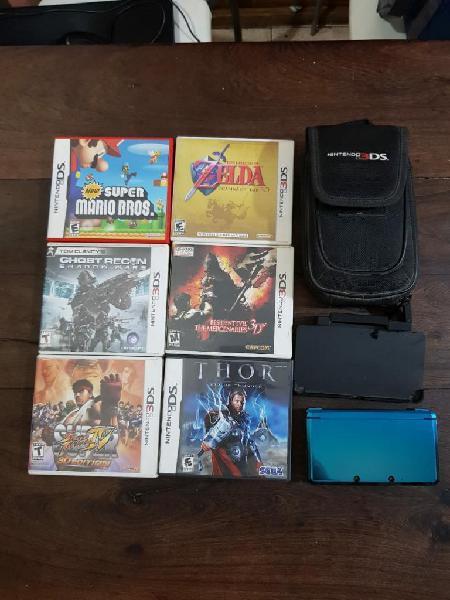 Nintendo 3ds 6 Juegos Funda Original