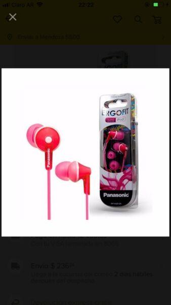 Auriculares Ergofit Panasonic Stereo