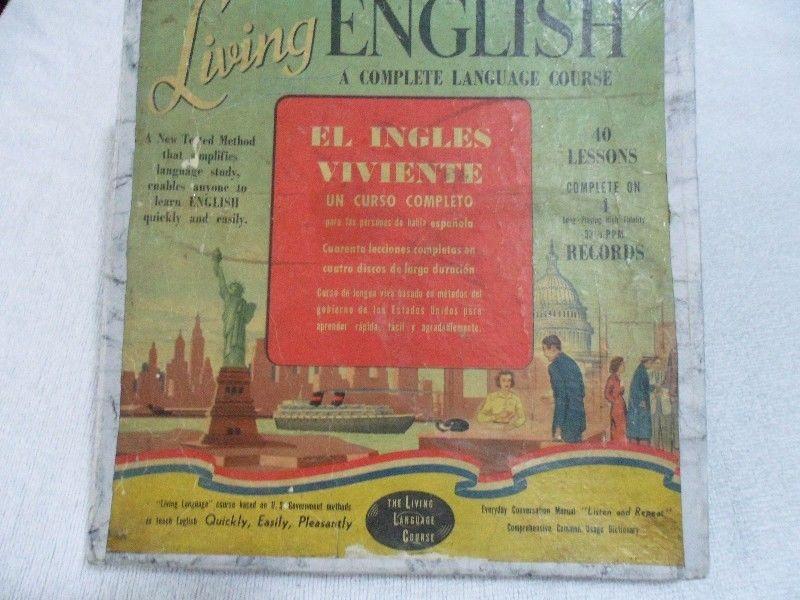 Curso de Ingles viviente en 4 discos de pasta de 33 rpm