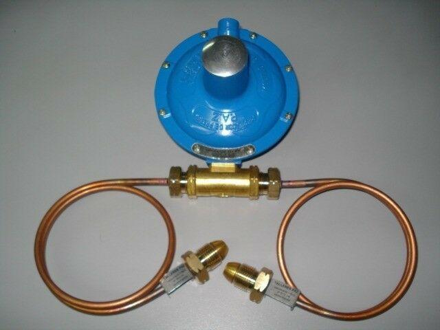 Regulador paz de 2 bocas completo para tubo de 45 k