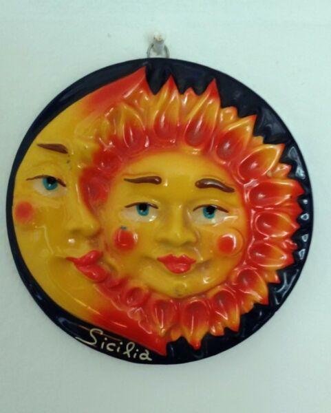 adorno para colgar sol y luna, 10 cm de diametro