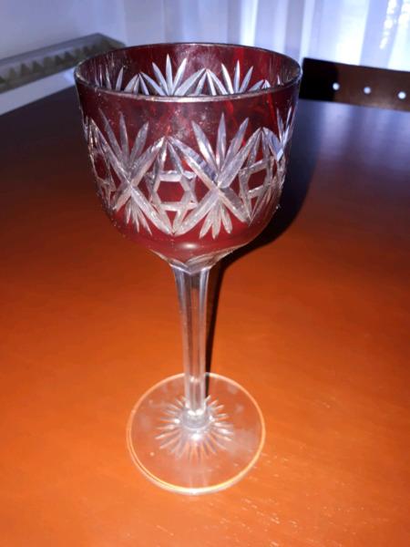 Copa cristal tallado a mano. EN PRECIO!