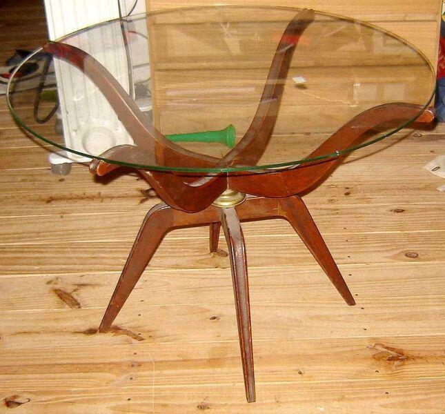 Exclusiva Mesa ratona de Diseño Retro vintage Escandinava