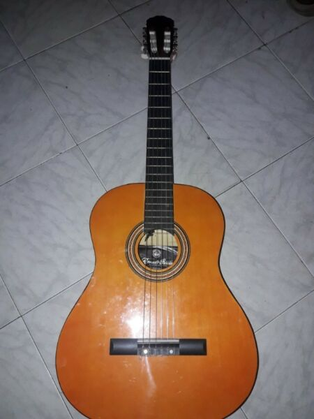 Guitarra criolla con funda sin uso