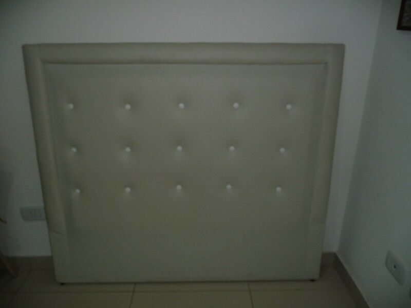 Respaldar para Somier color blanco tiza, 1,40 x 1,22