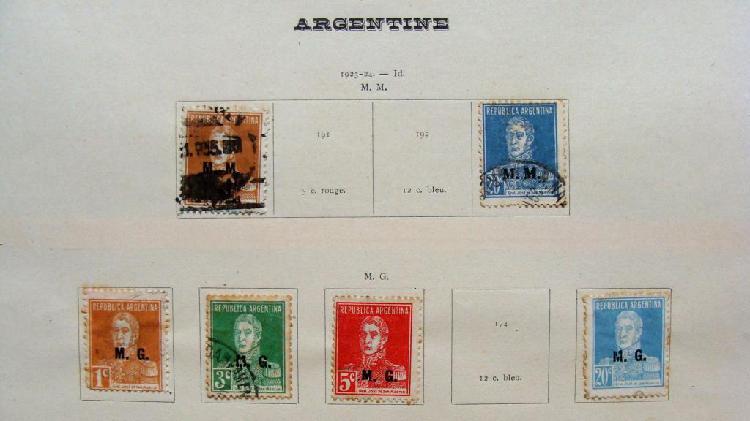 Sellos postales de Argentina 1923 1924