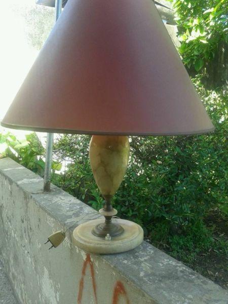 lampara antigua de alabastro