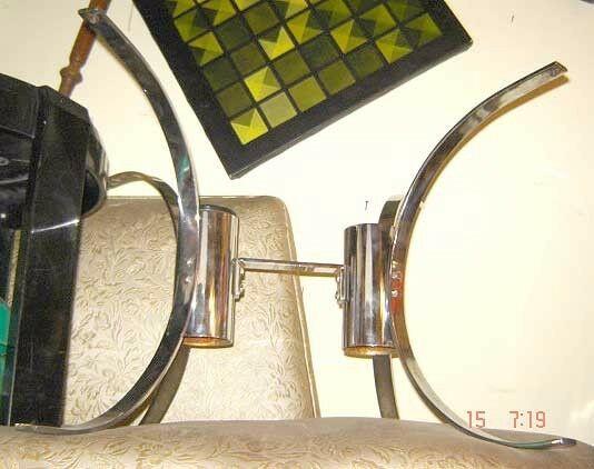 muy buena mesa ratona cromada rectangular diseño retro