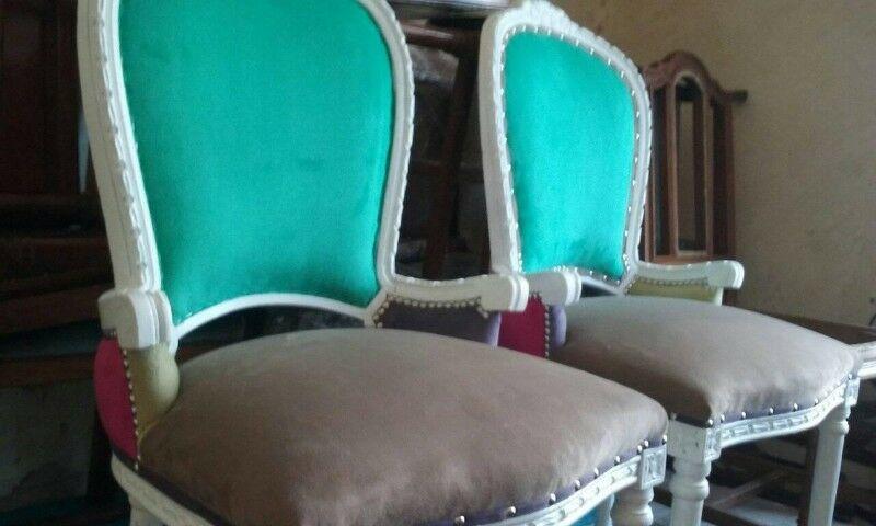 vendo 2 sillones de estilo / intervenidos con Glam