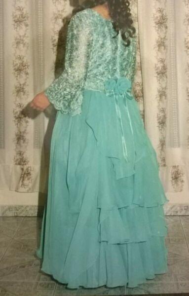 Vestido Celeste Posot Class