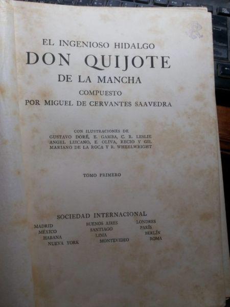 4 tomos, libros de don quijote de la mancha