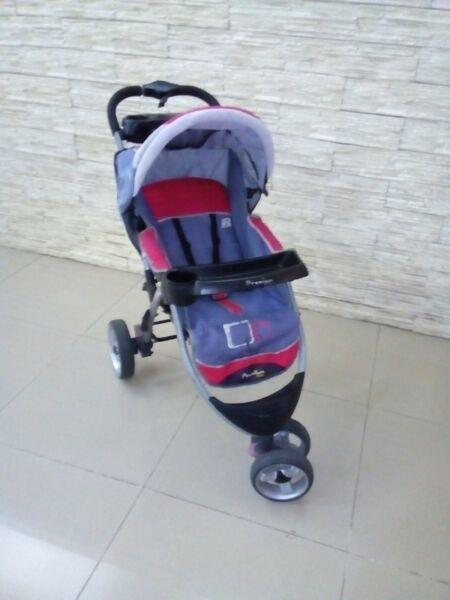 Cochecito Premium Baby Coche de bebe 3 ruedas grandes con