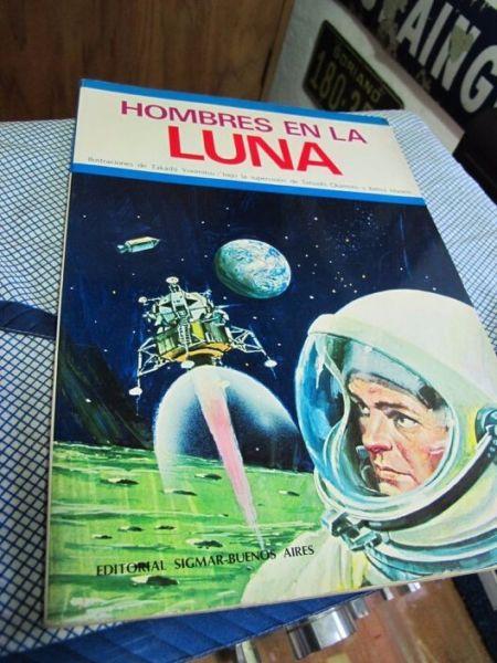 Hombres en la Luna - Libro ilustraciones
