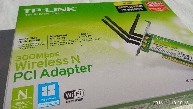 TP Link Wireless N PCI Adapter 300 mbps NUEVO