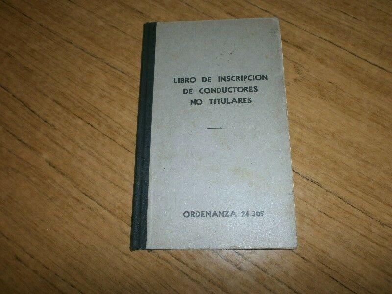 ANTIG/ LIBRO INSCRIP/CONDUC/TAXIS VER