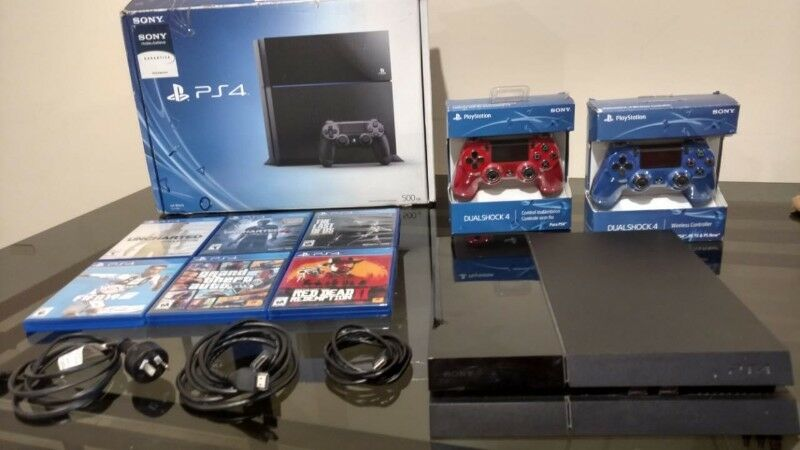 PLAYSTATION 4 SONY JETBLACK 500gb IMPECABLE + 2 DUALSHOCK +