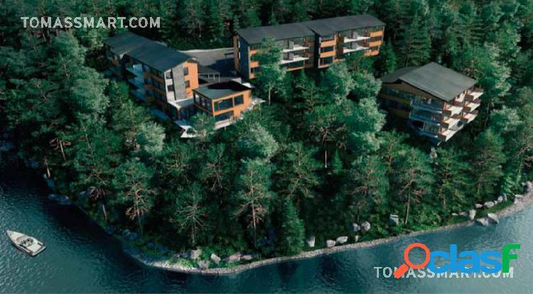 Departamento 3 ambientes, financiado, con costa de lago y