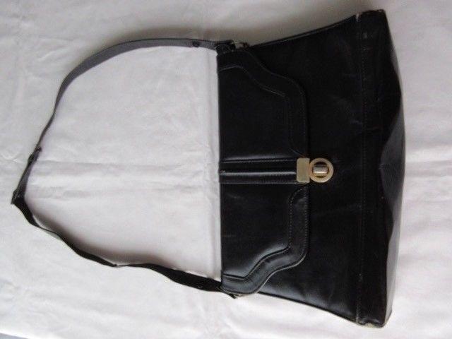 Cartera de cuero, color negro, Vintage!!!, Retro!!!, años