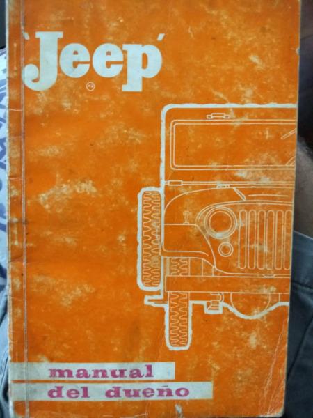 Antiguo Manual de Jeep IKA original de usuario