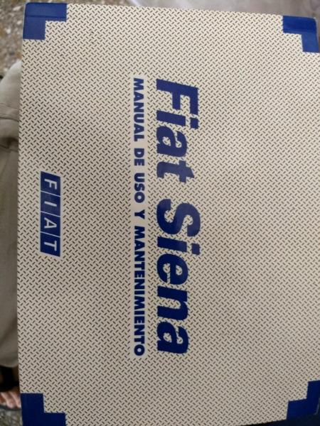 Manual de Fiat Siena  nafta y diesel. De usuario