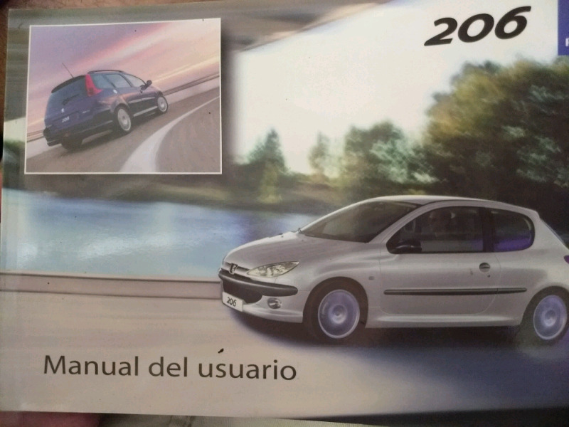 Manual de PEUGEOT 206 - de usuario original -IMPECABLE