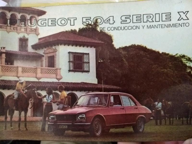Manual de PEUGEOT 504- SERIE X - de usuario original