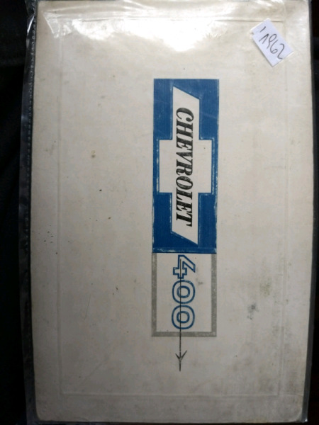 Manual de usuario original de Chevrolet 400 - año