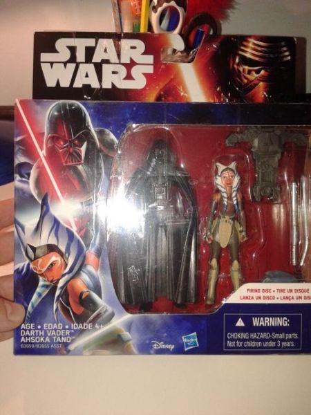 Star Wars -Darth Vader y Ahsoka Tano -Original Hasbro