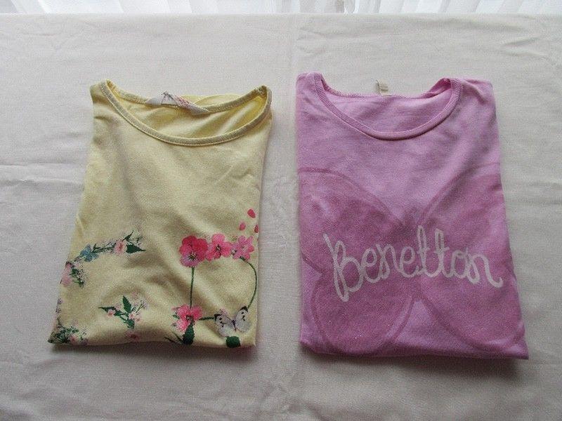 Dos remeras de manga corta para nena, marcas europeas!!!,