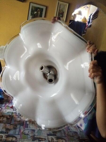 Lampara colgante capelina cristal murano Diseño Retro