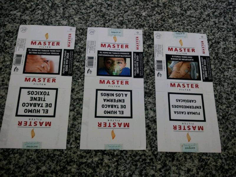 Vendo lote de 3 marquillas argentinas master