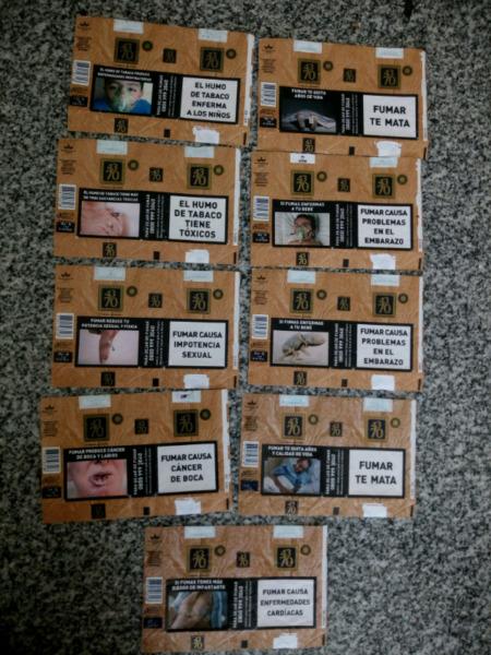 Vendo lote de 9 marquillas diferentes argentinas
