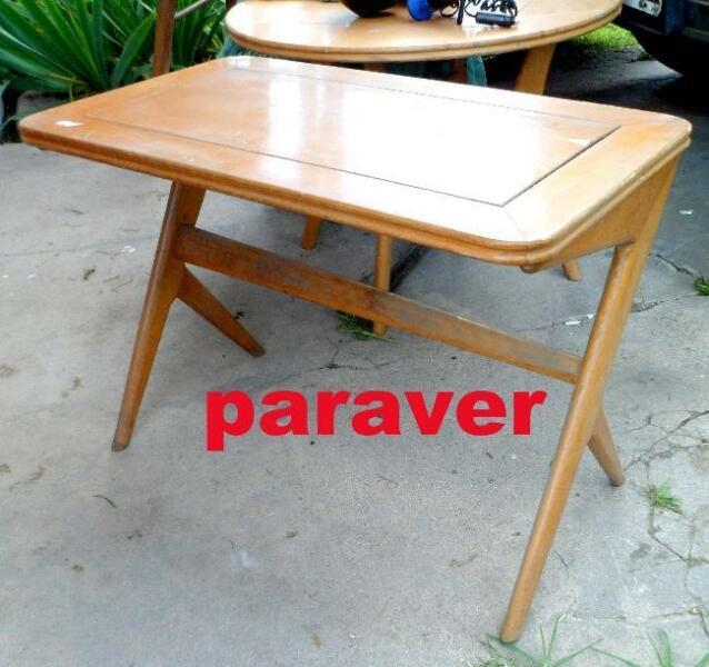 rara exclusiva mesa ratona diseño retro vintage 60s