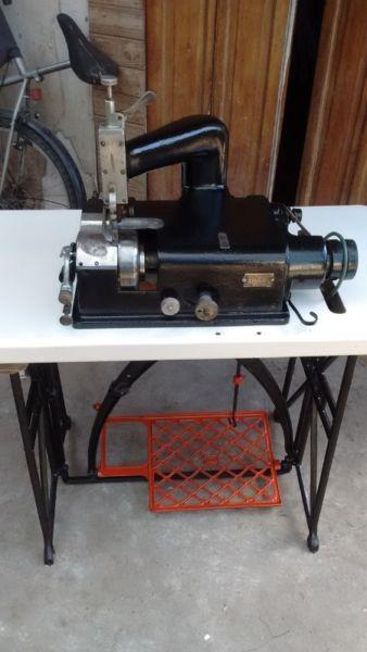 rebajadora de cuero y maquina de coser singer 2 agujas