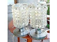 veladores lamparas de mesa globitos aluminio diseño retro