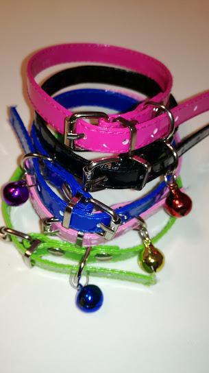 Collar Ecocuero Para Gatos Y Perros Toy Con Cascabel